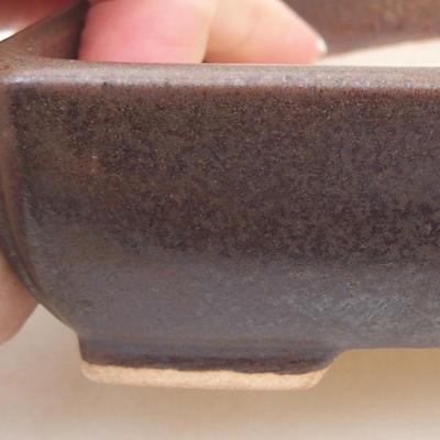Ceramiczna miska bonsai 13 x 10 x 4 cm, kolor brązowy - 2