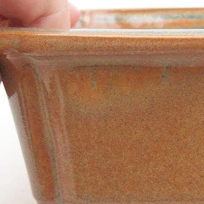 Ceramiczna miska bonsai 17 x 12 x 5,5 cm, kolor brązowy - 2