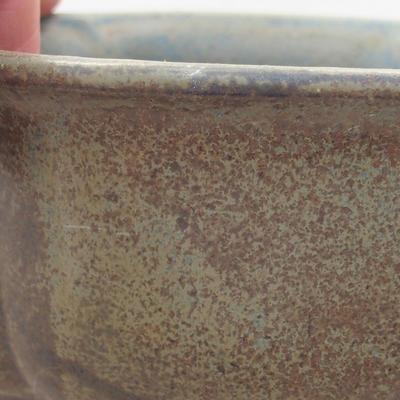 Ceramiczna miska bonsai 13 x 11 x 5 cm, kolor szary - 2