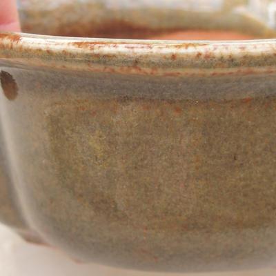 Ceramiczna miska bonsai 13 x 11 x 5 cm, kolor zielony - 2
