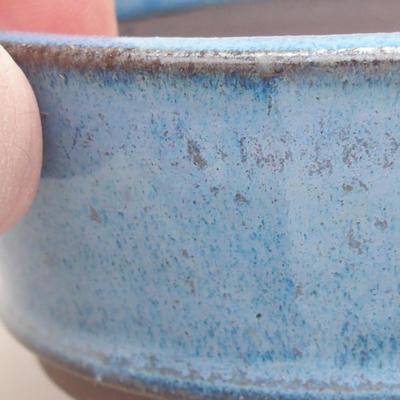 Ceramiczna miska bonsai 9 x 9 x 3,5 cm, kolor niebieski - 2