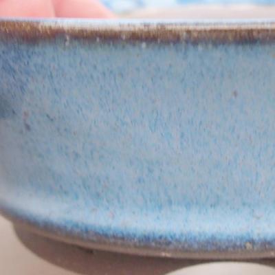 Ceramiczna miska bonsai 10 x 10 x 3,5 cm, kolor niebieski - 2