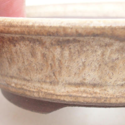 Ceramiczna miska bonsai 11 x 11 x 3 cm, kolor beżowy - 2