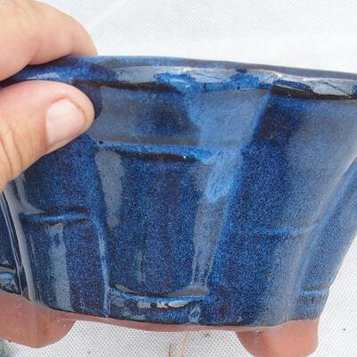 Miska Bonsai 22 x 22 x 10 cm, kolor niebieski - 2