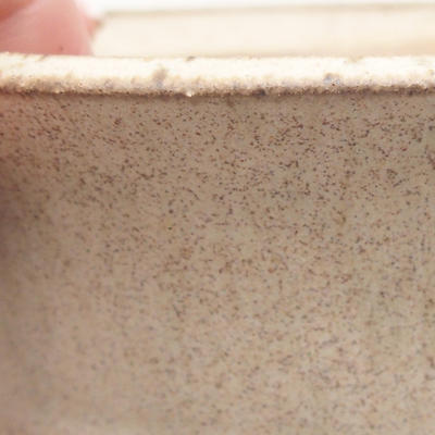 Ceramiczna miska bonsai 11 x 11 x 4,5 cm, kolor beżowy - 2