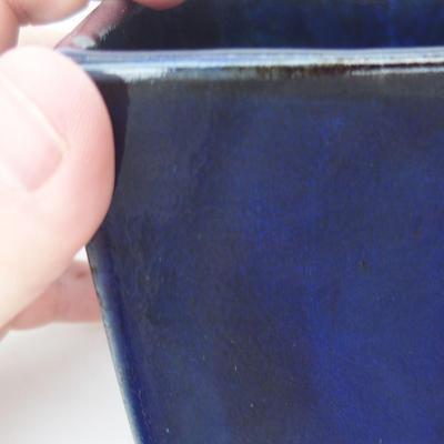 Ceramiczna miska bonsai 9 x 9 x 9 cm, kolor niebieski - 2
