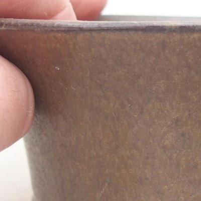 Ceramiczna miska bonsai 10,5 x 10,5 x 5 cm, kolor brązowy - 2