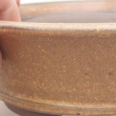 Ceramiczna miska bonsai 12 x 12 x 4 cm, kolor brązowy - 2