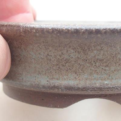 Ceramiczna miska bonsai 9 x 9 x 2,5 cm, kolor szary - 2