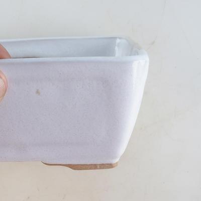 Ceramiczna miska bonsai 16 x 12 x 6 cm, kolor biały - 2