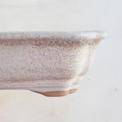 Ceramiczna miska bonsai 16 x 12,5 x 4,5 cm, kolor beżowy - 2