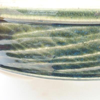 Ceramiczna miska bonsai 19,5 x 19,5 x 5 cm, kolor zielony - 2