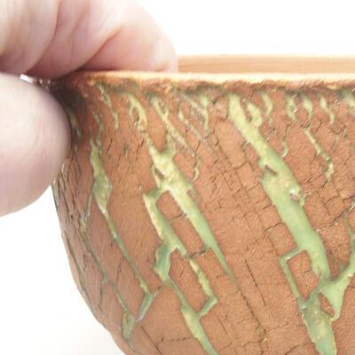Ceramiczna miska bonsai 14 x 14 x 8,5 cm, kolor spękany - 2