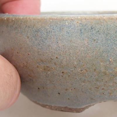 Ceramiczna miska bonsai 9,5 x 9,5 x 3,5 cm, kolor niebieski - 2