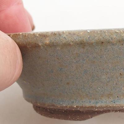 Ceramiczna miska bonsai 10 x 10 x 3 cm, kolor niebieski - 2