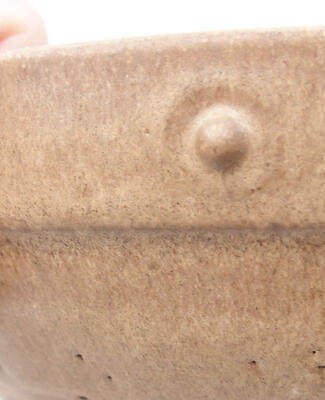 Ceramiczna miska bonsai 20 x 20 x 5,5 cm, kolor brązowy - 2