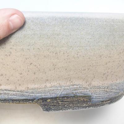 Miska Bonsai 41,5 x 32,5 x 11 cm, kolor szaro-beżowy - 2
