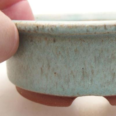 Ceramiczna miska bonsai 10 x 10 x 3,5 cm, kolor zielony - 2