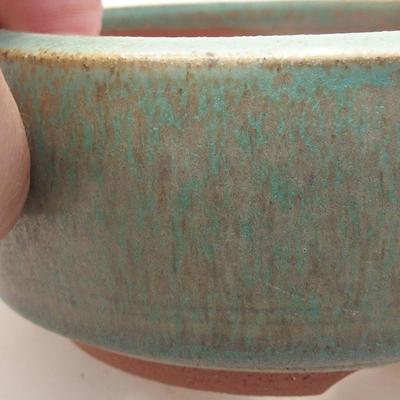 Ceramiczna miska bonsai 10 x 10 x 4,5 cm, kolor zielony - 2