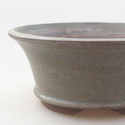 Ceramiczna miska bonsai 10 x 10 x 4 cm, kolor szary - 2