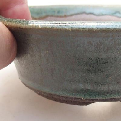 Ceramiczna miska bonsai 11,5 x 11,5 x 4 cm, kolor zielony - 2