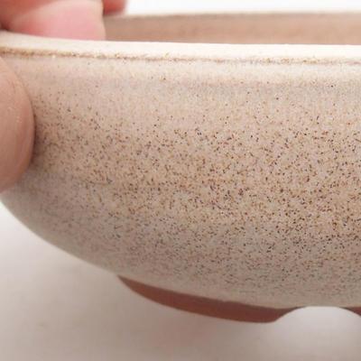 Ceramiczna miska bonsai 11,5 x 11,5 x 4 cm, kolor beżowy - 2