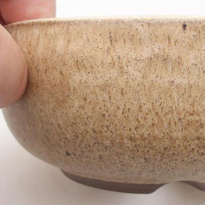 Ceramiczna miska bonsai 10,5 x 10,5 x 5 cm, kolor beżowy - 2