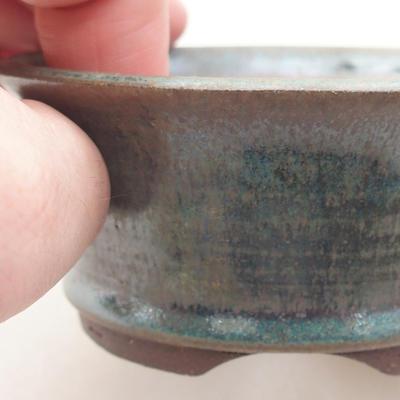 Ceramiczna miska bonsai 9 x 9 x 4 cm, kolor zielony - 2
