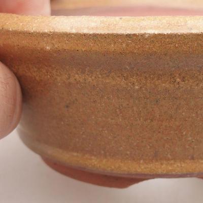 Ceramiczna miska bonsai 10,5 x 10,5 x 4 cm, kolor brązowy - 2
