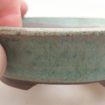 Ceramiczna miska bonsai 9,5 x 9,5 x 2,5 cm, kolor zielony - 2