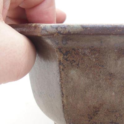 Ceramiczna miska bonsai 12,5 x 11 x 7,5 cm, kolor szary - 2
