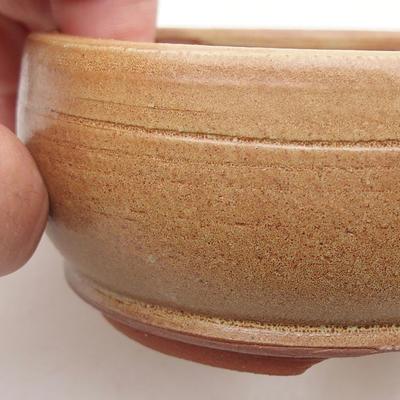Ceramiczna miska bonsai 9,5 x 9,5 x 4 cm, kolor brązowy - 2