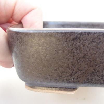 Ceramiczna miska bonsai 15,5 x 12,5 x 4,5 cm, kolor szary - 2