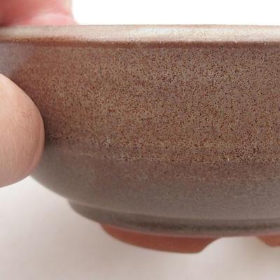 Ceramiczna miska bonsai 12 x 12 x 4,5 cm, kolor brązowy - 2