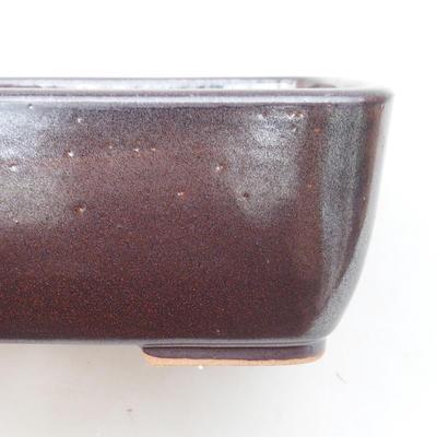 Ceramiczna miska bonsai 16 x 10 x 5,5 cm, kolor brązowy - 2
