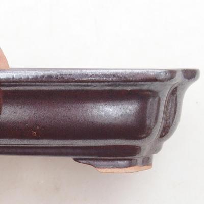 Ceramiczna miska bonsai 14 x 11 x 4 cm, kolor brązowy - 2