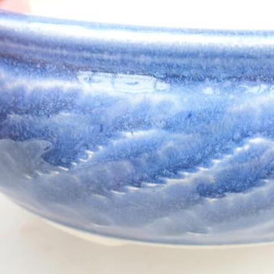 Ceramiczna miska bonsai 13,5 x 13,5 x 5,5 cm, kolor niebieski - 2