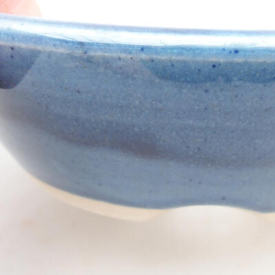 Ceramiczna miska bonsai 15 x 15 x 4,5 cm, kolor niebieski - 2