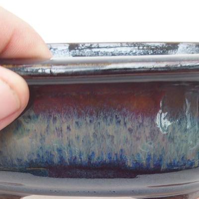 Ceramiczna miska bonsai 15,5 x 13 x 5,5 cm, kolor brązowo-niebieski - 2