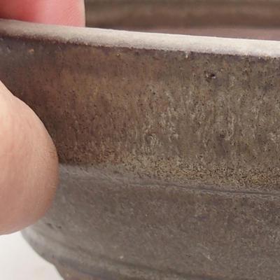 Ceramiczna miska bonsai 17,5 x 17,5 x 5,5 cm, kolor szary - 2