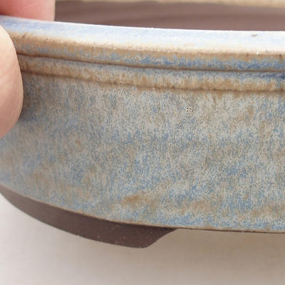 Ceramiczna miska bonsai 16,5 x 16,5 x 4,5 cm, kolor niebieski - 2