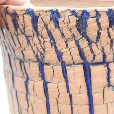 Ceramiczna miska bonsai 13 x 13 x 12,5 cm, kolor niebieski - 2