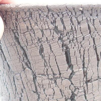 Ceramiczna miska bonsai 15,5 x 15,5 x 13 cm, kolor czarny - 2