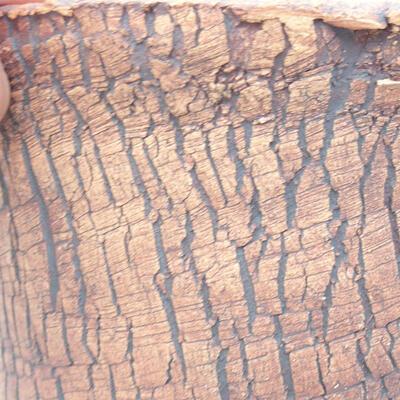 Ceramiczna miska bonsai 12 x 12 x 15,5 cm, kolor szary - 2