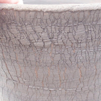 Ceramiczna miska bonsai 14 x 14 x 13 cm, kolor szary - 2