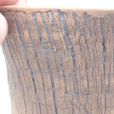 Ceramiczna miska bonsai 12 x 12 x 14 cm, kolor czarny - 2