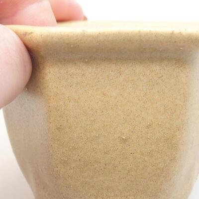 Mini miska bonsai 7 x 6 x 5 cm, kolor beżowy - 2