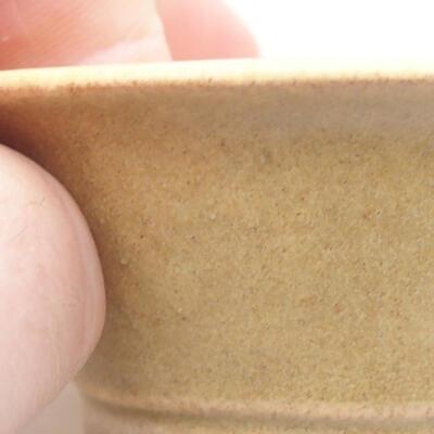 Mini miska bonsai 7 x 7 x 3 cm, kolor beżowy - 2