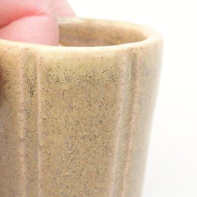 Mini miska bonsai 3,5 x 3,5 x 4 cm, kolor beżowy - 2