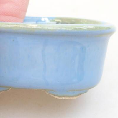 Mini miska bonsai 4 x 3,5 x 1,5 cm, kolor niebieski - 2